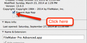 How to disable App Nap