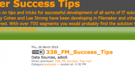 Filemaker Success Tips 338