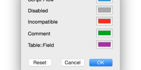 FileMaker 14 Color Panel