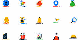 Flat Colorful Icon Pack