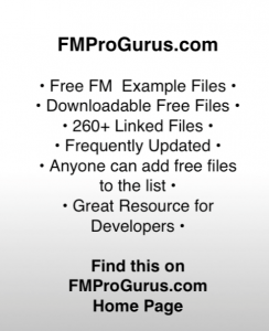 Free FileMaker Example Files