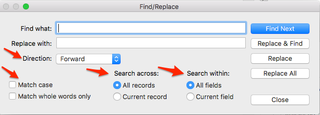 Find and Replace in FileMaker